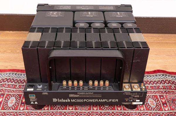 McIntoshパワーアンプMC500背面部