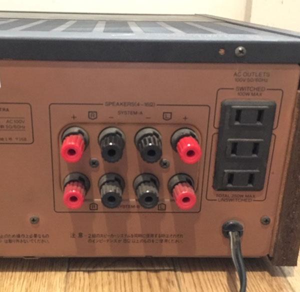 サンスイプリメインアンプ AU-D707G EXTRA リアパネル